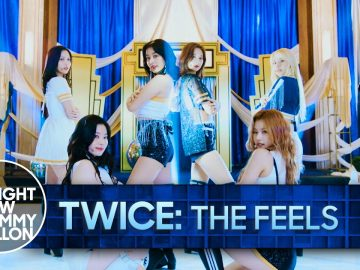 Twice performs 'The Feels' on Fallon